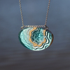 Atoll necklace aqua 007