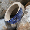 Ultramarine estuary bangle on rocks 003