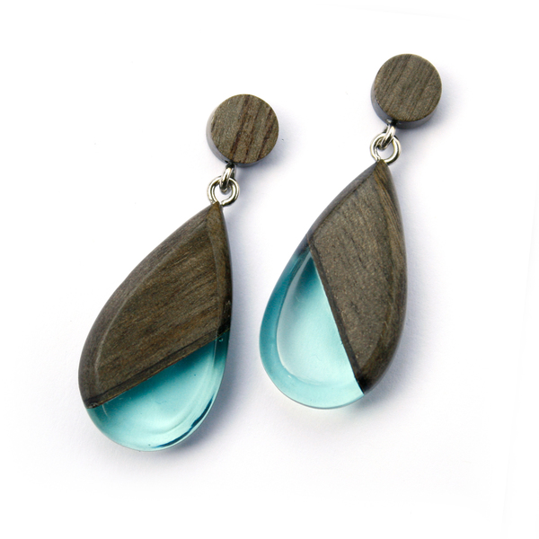 Greywood dangle earrings in light blue