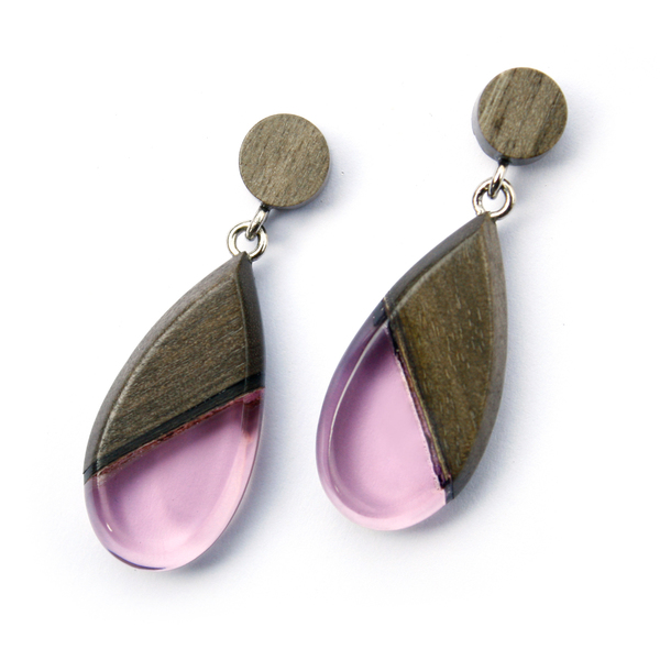 Greywood dangle earrings in violet