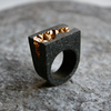 Anakie gold statement ring on stone side view