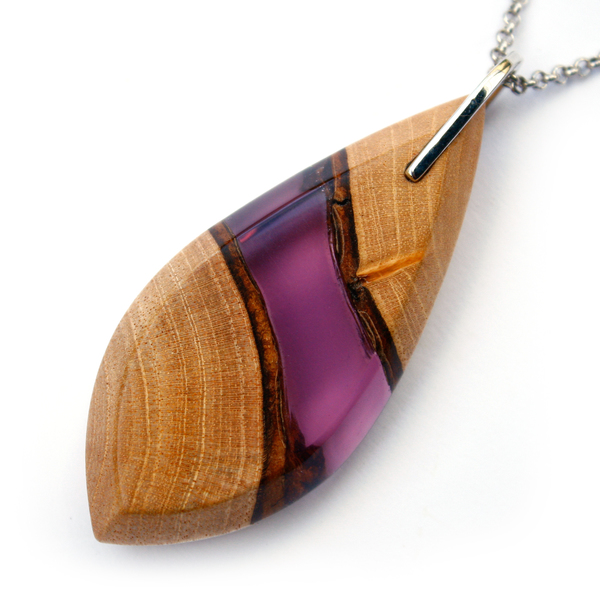 Long leaf mahogany pendant in violet